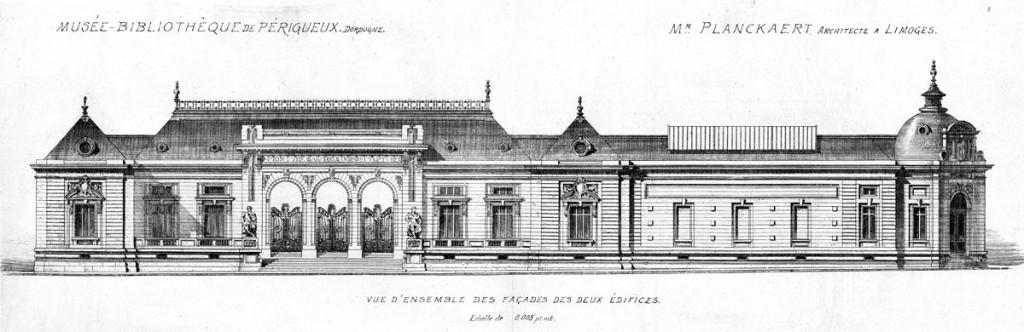 Façade (carte postale) vers 1900
