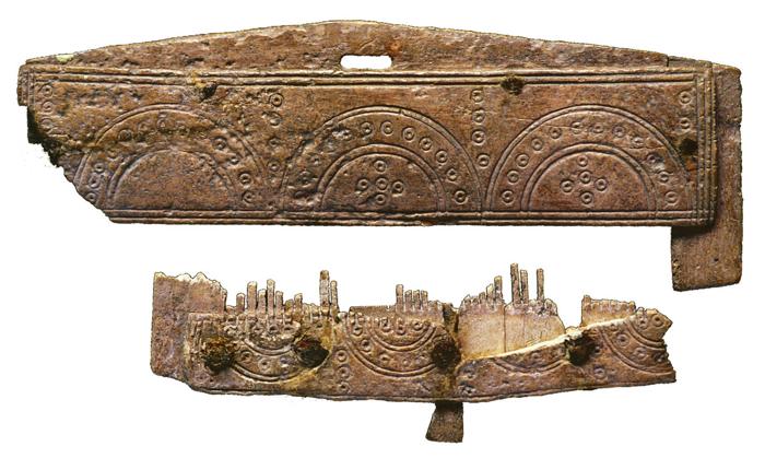 objets mérovingiens de la tombe trouvés à Tocane